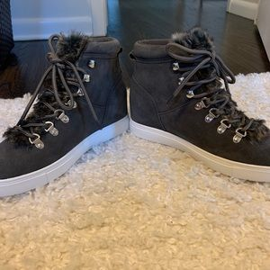 Steve Madden high top fur lined sneakers